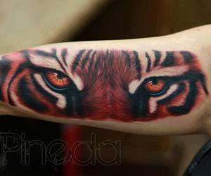 arm, eye, and tattoo image