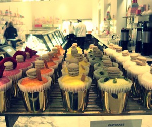 cafe, cakes, and cupcake image