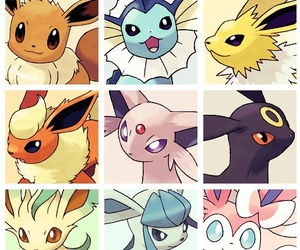 anime, eevee, and glaceon image
