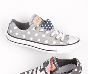 converse, shoes, and polka dots image