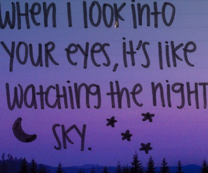 night, quote, and sky image