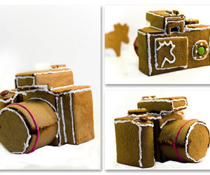 camera, christmas, and gingerbread image