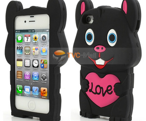 3d, rabbit, and cute iphone case image