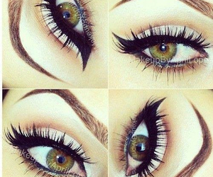 green, makeup, and pretty image