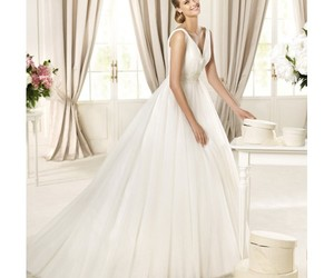 ball gown, bridal, and bridal gown image