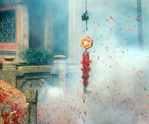 chinese new year and firecrackers image