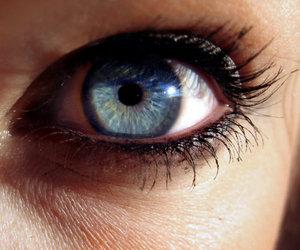 blue, eye, and girl image