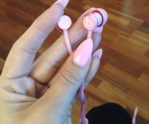 beats, pink, and nails image