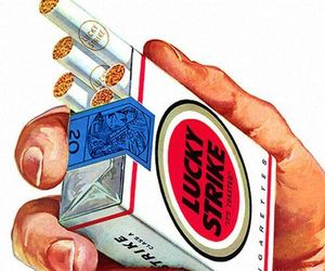 cigar, cigarette, and lucky strike image