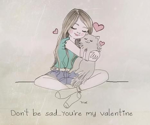 cat, love, and valentine image