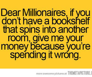 funny, book, and millionaire image