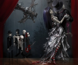 dance, dark, and gothic image