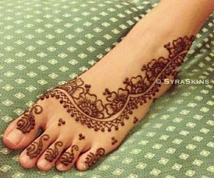 bride, feet, and henna image