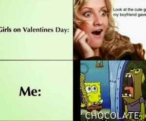 funny, chocolate, and Valentine's Day image