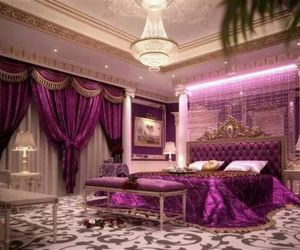 luxury, bedroom, and purple image