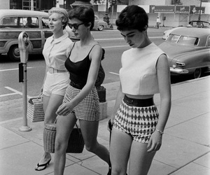 1950's, girls, and fashion image