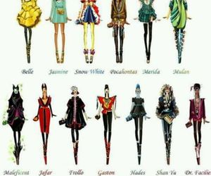 disney, fashion, and princess image