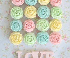 love, cupcake, and pastel image