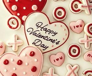 love, valentine, and Cookies image