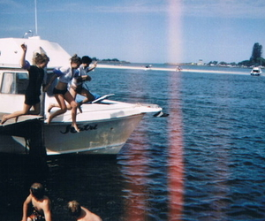 friends, summer, and boat image