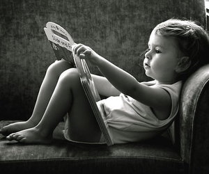 book, kid, and reading image