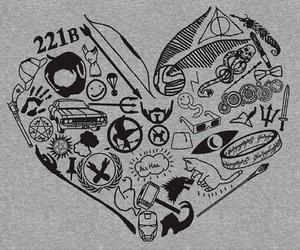 fandom, harry potter, and heart image