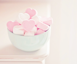 pink, sweet, and heart image