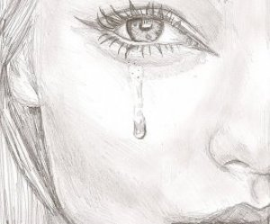 art, tears, and cry image