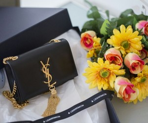 fashion, flowers, and YSL image