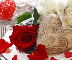 flower, valentine, and love image