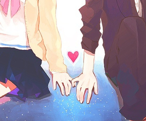 love, anime, and couple image
