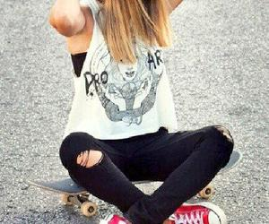 converse, skate, and skateboard image