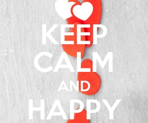 happy, heart, and keep calm image
