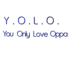 oppa, yolo, and kpop image