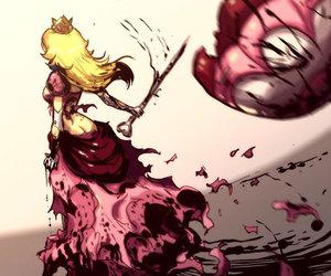 peach, princess peach, and mario image