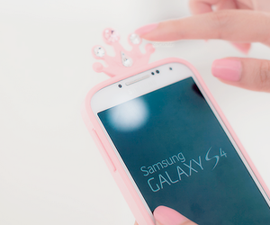 pink, cute, and galaxy image