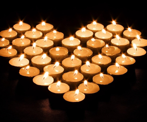 candle, heart, and love image