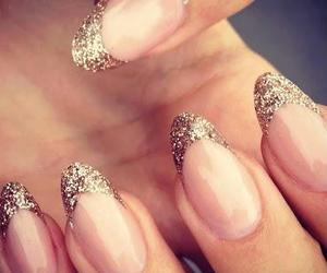 gold, nails, and beautiful image