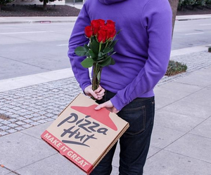 boyfriend, valentines, and pizza image