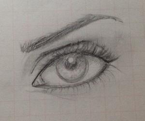 draw, eye, and makeup image