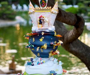 cake, mario, and wedding image