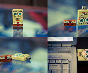 spongebob, usb, and sponge bob image