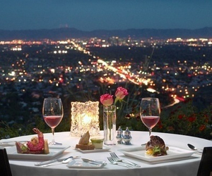 city, dinner, and luxury image