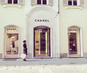 chanel, girl, and shopping image