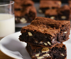 brownie, delicious, and chocolate image