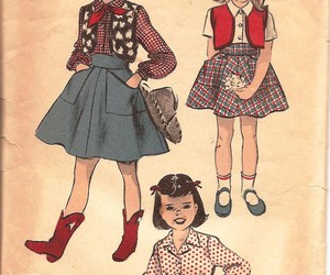 Cowgirl, girls, and illustration image