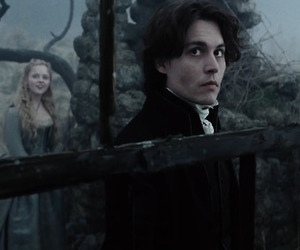 johnny depp, sleepy hollow, and tim burton image