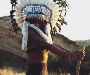 accessories, native american, and girl image
