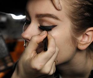 black, make up, and liner image