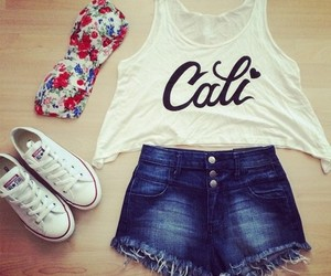 cali, clothes, and converse image